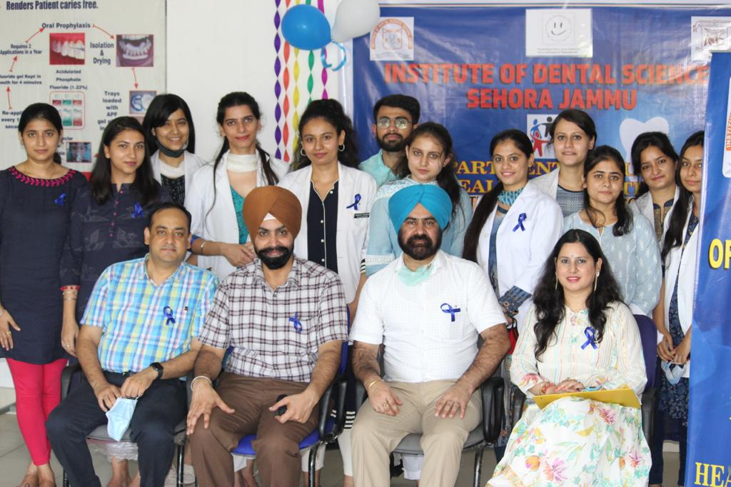 Mouth Cancer Awareness Day Observed in Institute of Dental Sciences, Jammu