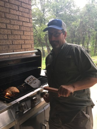 David doing some grilling
