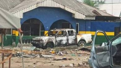 Photo of IPOB 'attacks police for protecting Fulani herdsmen; sets station, patrol vans on fire'