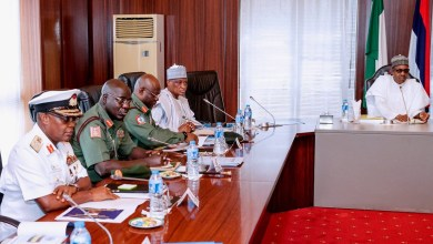 Photo of Buhari, security chiefs in Aso Rock meeting