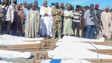 Photo of Nigeria buries 43 massacred rice farmers