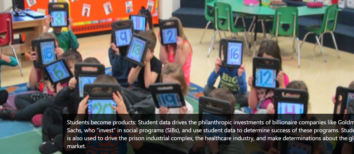 New Campaign: Classrooms Not Computers, Stop Education Profiteering