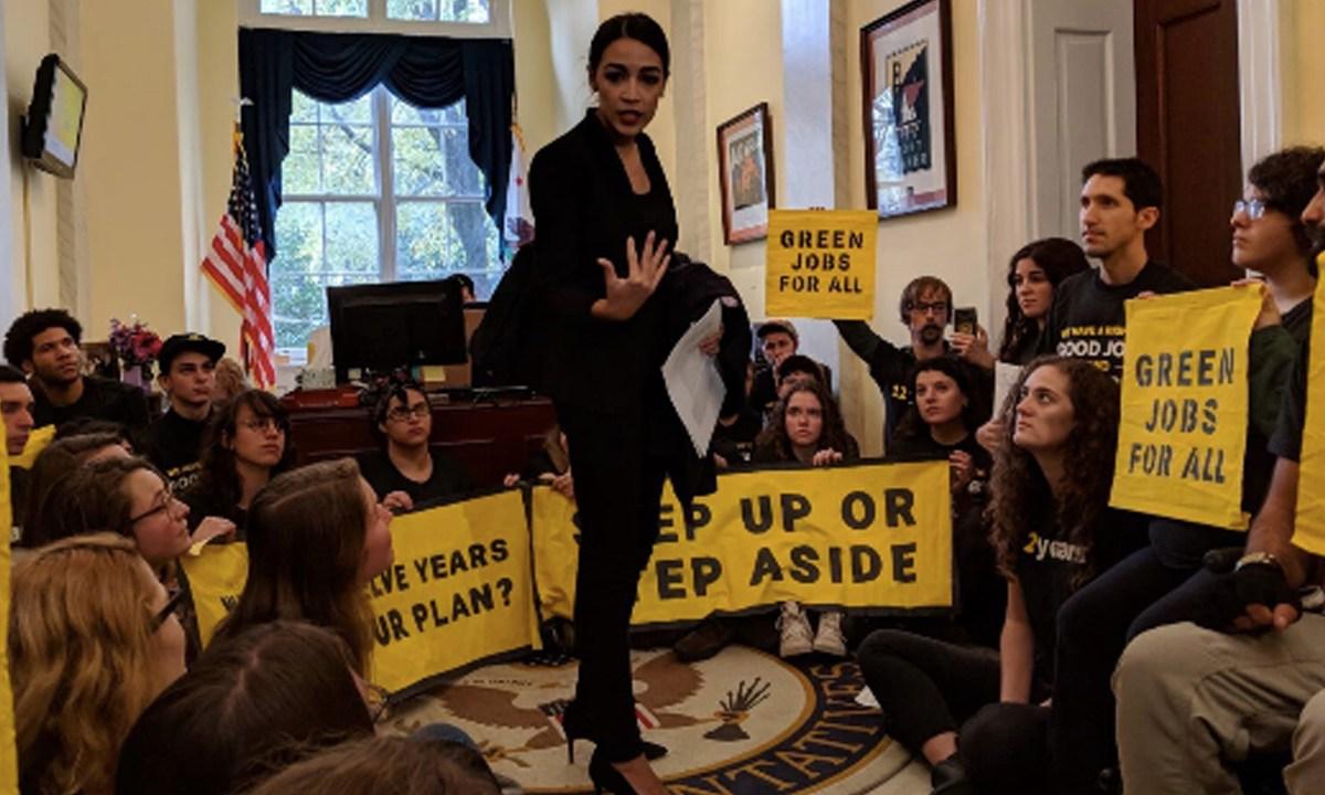 Activists and Alexandria Ocasio-Cortez Demand Nancy Pelosi Take Action on Climate
