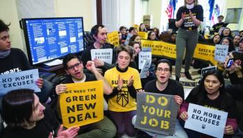 100 Young Climate Activists Storm Capitol Hill Demanding A Green New Deal
