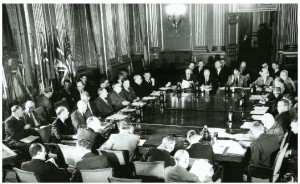 Canada played a prominent role in NATO's founding meeting in 1949.