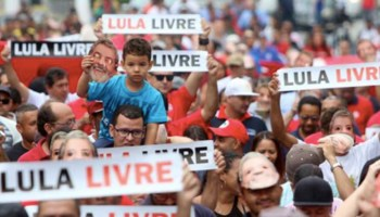 """Protests Across Brazil and the World for the Release of Lula, """"Political Prisoner"""""""