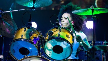 Cindy Blackman Santana plays the drums as part of the Divination Tour