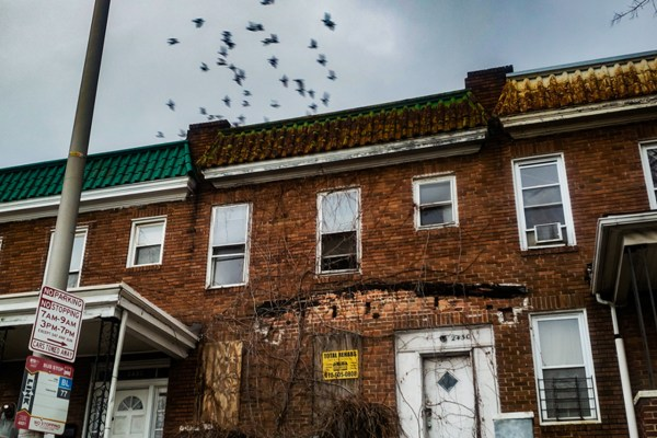 Vacant Baltimore rowhome. Photo by Shae McCoy