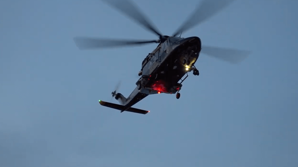 AW138 helicopter used by Maryland State Police to fly medevac services for trauma patients