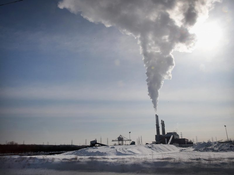 Smoke rises from a coal-fired power plant in Illinois