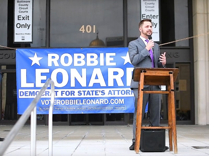 Robbie Leonard announces his campaign for Baltimore County state's attorney