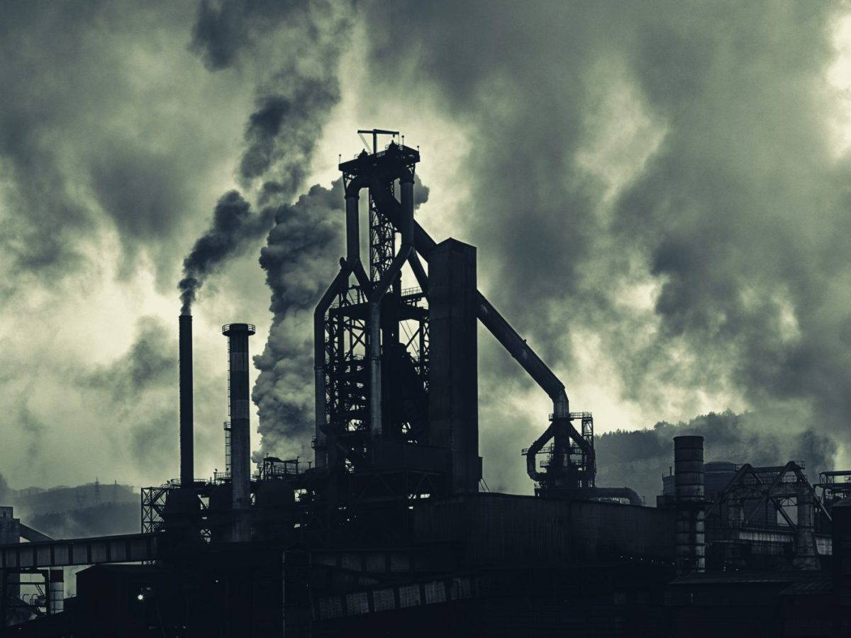 Industrial Area With Heavy Air Pollution