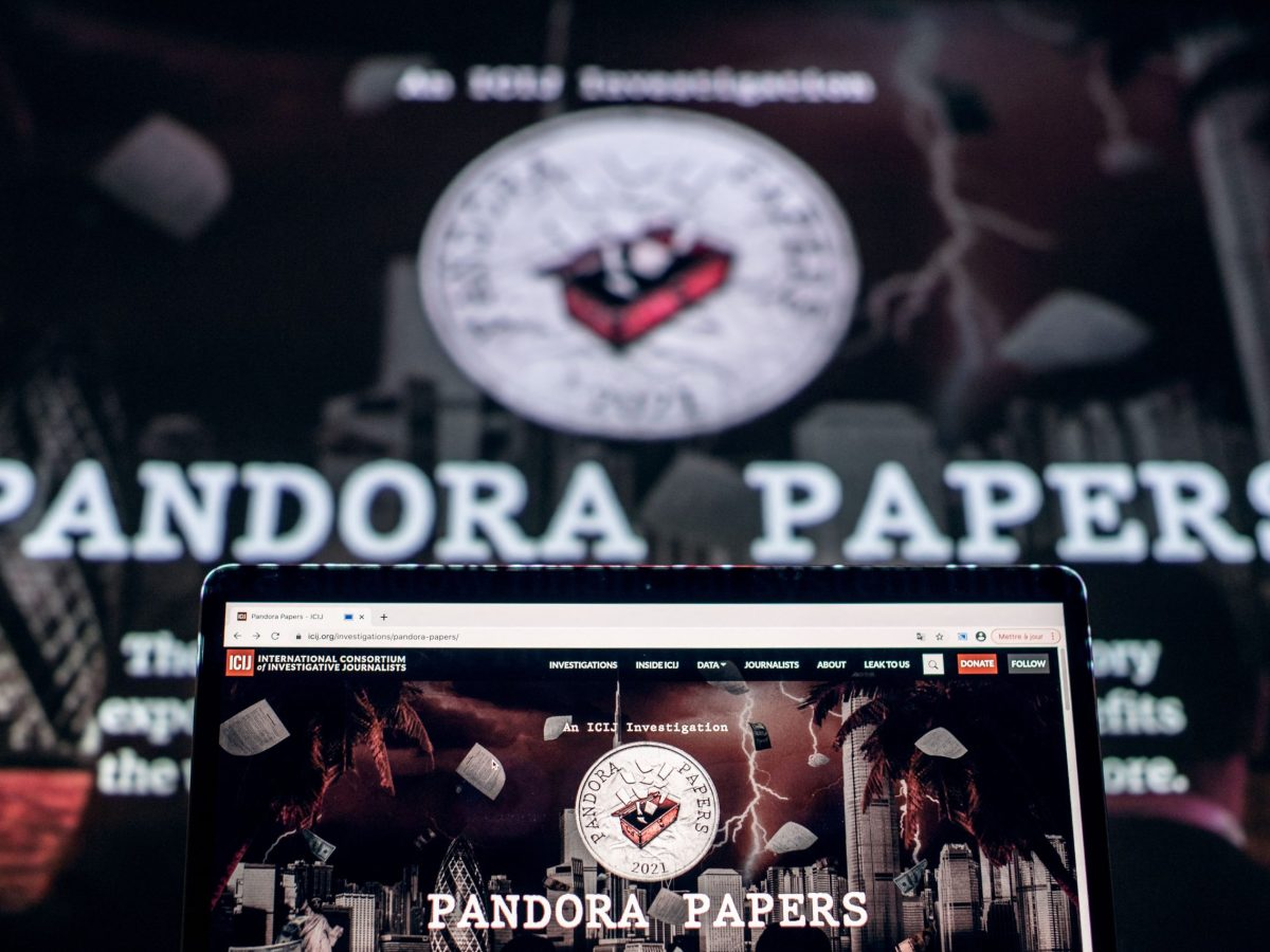 The logo of the Pandora Papers