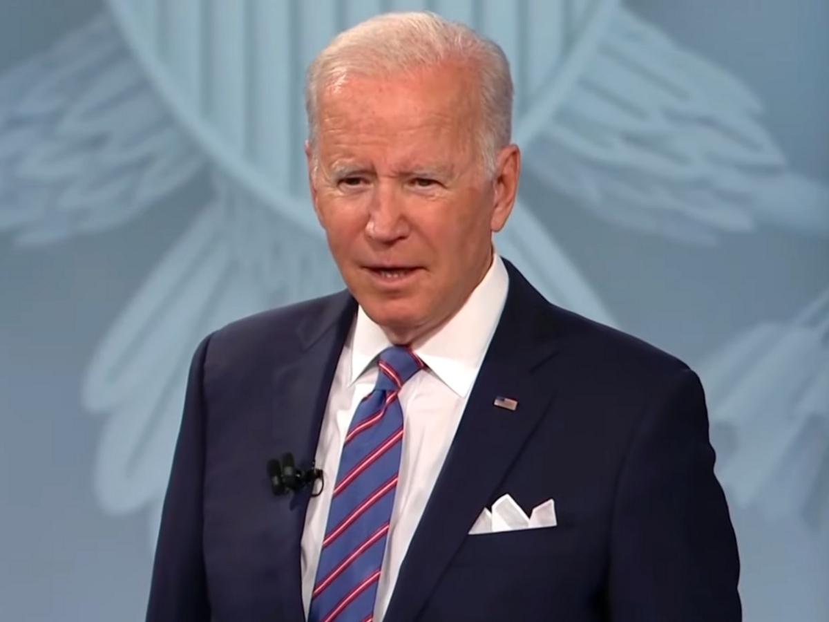 President Joe Biden speaks at Baltimore town hall