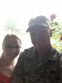 This was the day after he returned from Afghanistan when he put on Senior Airman.