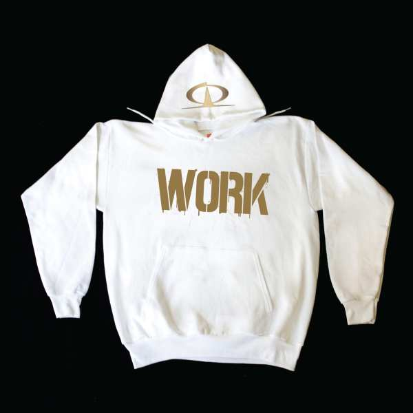 TQ Hoodies WORK White