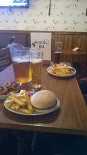 Goodbye to Woodys with my housemate