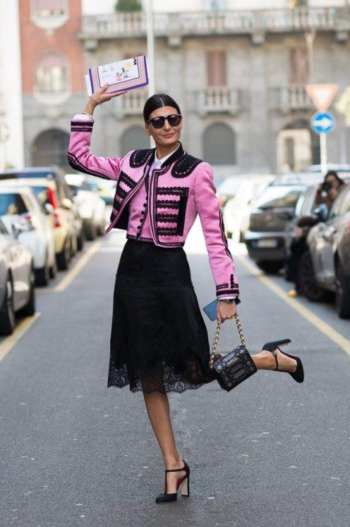 Giovanna Battaglia at Dolce & Gabbana FW2015