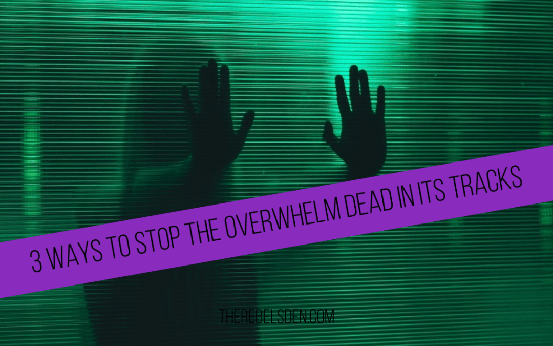 3 WAYS TO STOP THE OVERWHELM DEAD IN ITS TRACKS