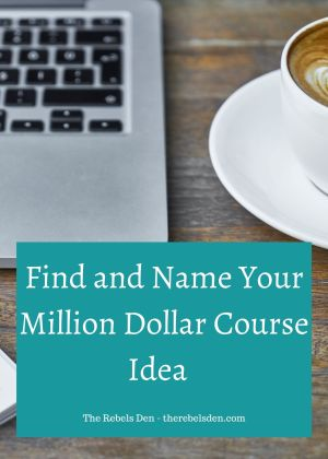 Find and Name Your Course Idea