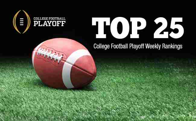College Football Playoff Rankings: Dec. 2, 2014