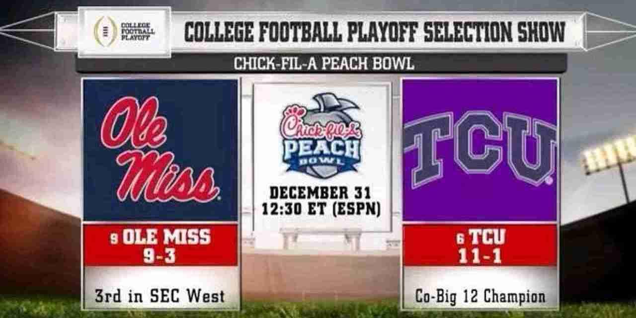 Ole Miss headed to Peach Bowl