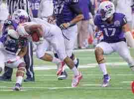 TCU grabbing Mathers by the neck
