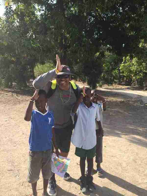 Maurice Harris with the Fins Up in Haiti
