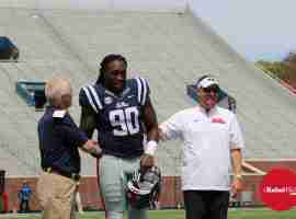 Fadol Brown honored before Grove Bowl
