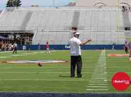 Coach Freeze during Grove Bowl