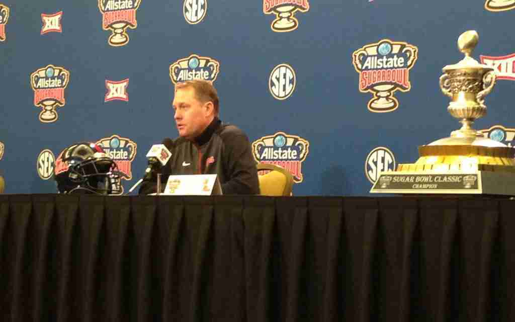 Coach Freeze talks with media before upcoming Sugar Bowl