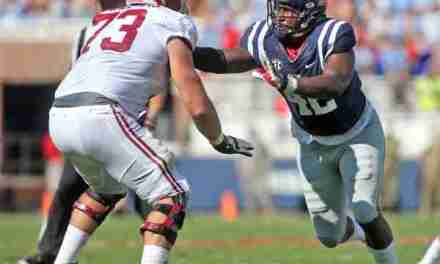 Rebels' defensive end Garrald McDowell sees his hard work paying off