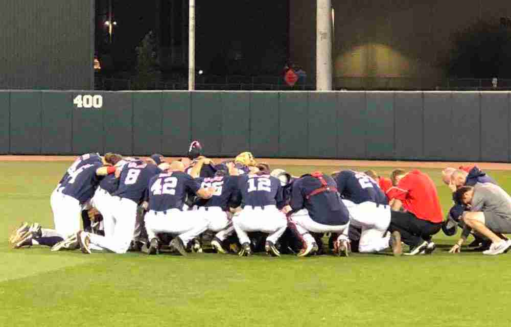 No. 5 Rebels rally to defeat No. 11 Aggies, 5-4, in Game 1 of series