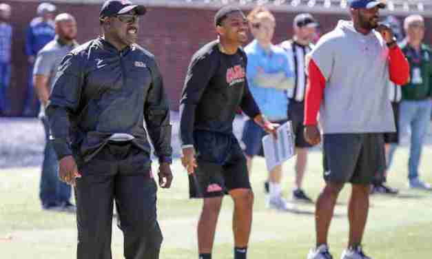 Ole Miss DC Wesley McGriff pleased with defense's energy,  improvement at linebacker position
