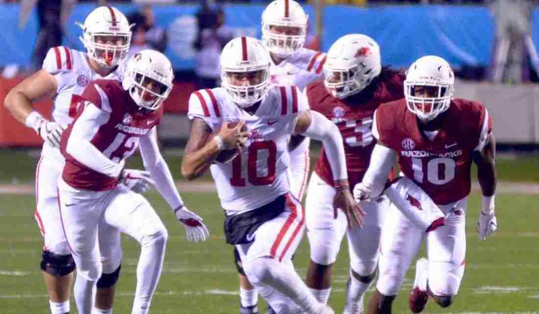 Ta'amu leads Rebels on 97-yard, game-winning drive as Ole Miss defeats Arkansas, 37-33
