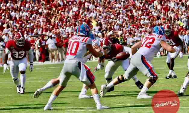 Coach Luke says Ole Miss could play two quarterbacks against Vandy