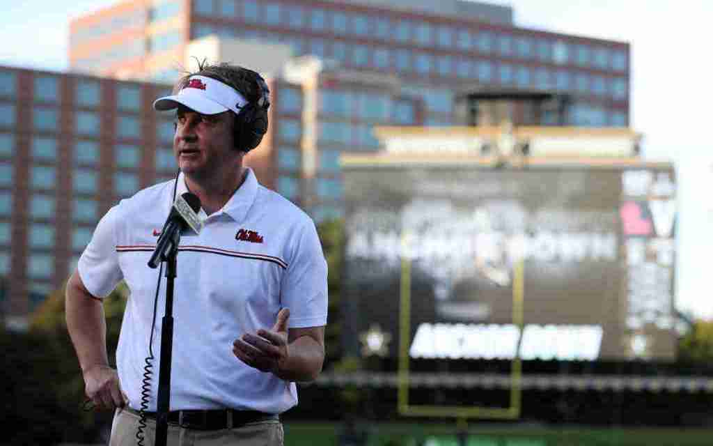 Lane Kiffin discusses COVID-19 postponements, looks ahead to South Carolina
