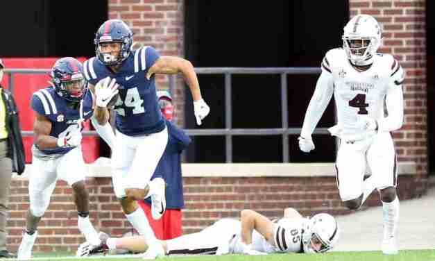 Deane Leonard talks about pivotal play in Ole Miss' Egg Bowl win