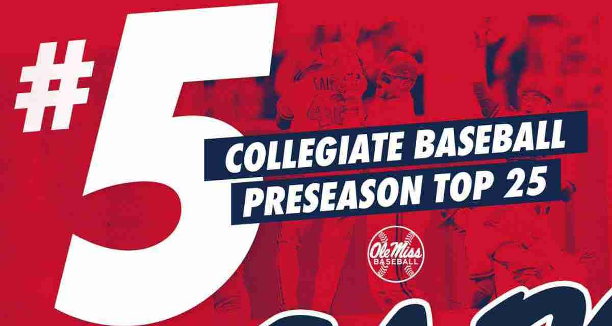 Baseball Earns Preseason Top 5 Ranking