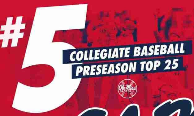 Baseball Earns Preseason Top 5 Ranking