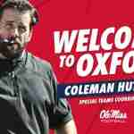 Coleman Hutzler Joins Ole Miss Staff as Special Teams Coordinator