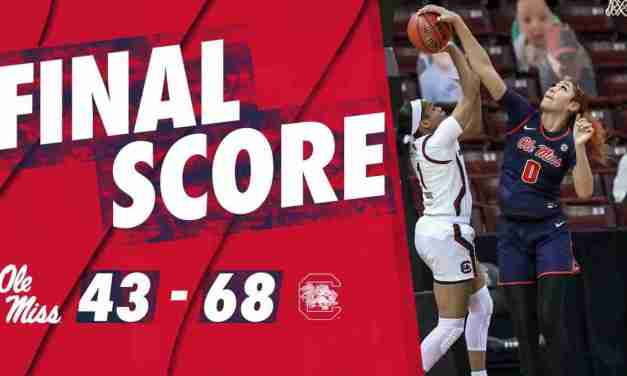 Women's Basketball Falls at No. 5 South Carolina, 68-43