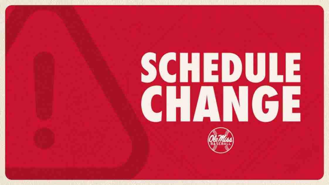 No. 2 Ole Miss Baseball vs. North Alabama Postponed Due to Weather