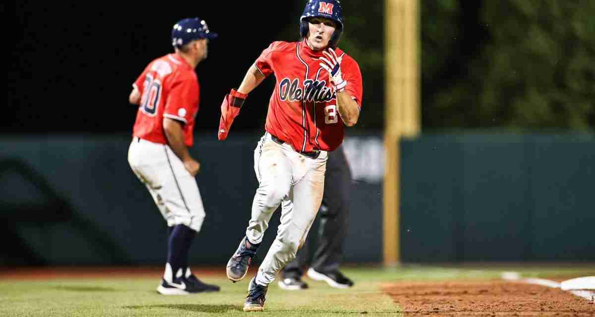 Rebels rally to win in extra innings, defeat Georgia 8-5 in 11 to clinch series