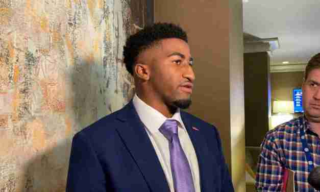 VIDEO: DB Jaylon Jones visits with Ole Miss reporters at SEC Media Days