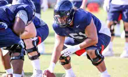 Orlando Umana's play at center allowing Rebel O-linemen to move back to more natural positions