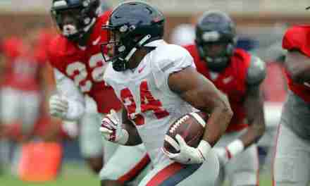 Practice Report: Rebels scrimmage in the Vaught; offense shines, defense has room to improve