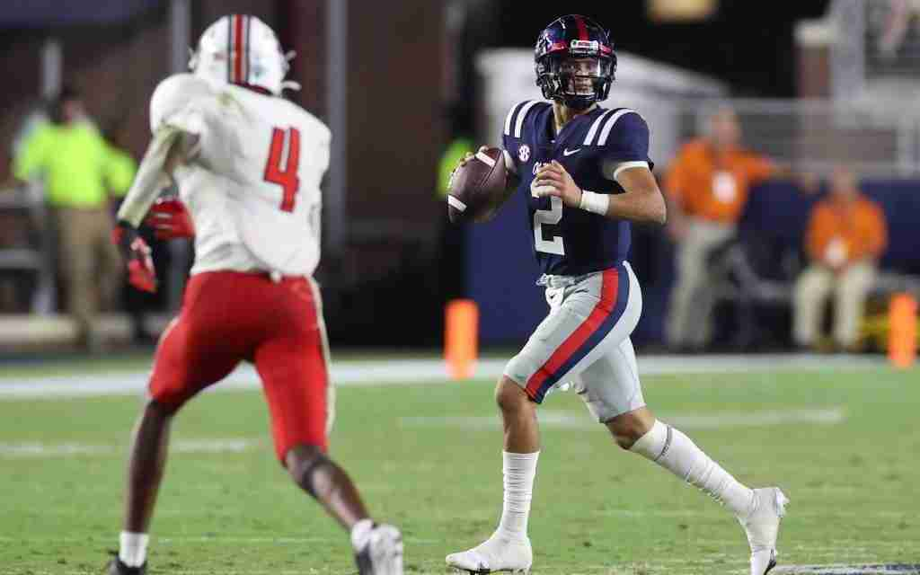 Matt Corral named Walter Camp National FBS Offensive Player of the Week