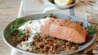 Poached Salmon with Caper and Lemon Sauce