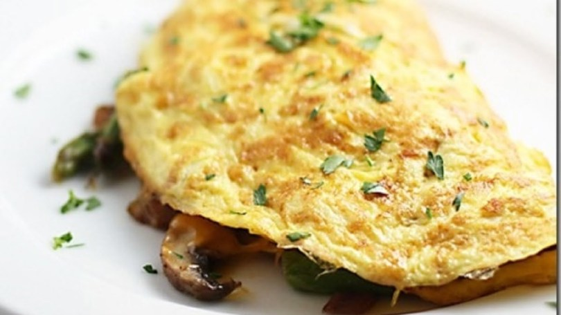 Spicy Omelette with Mushrooms